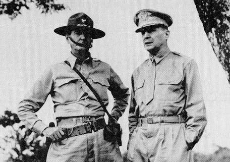 Wainwright and MacArthur in the field