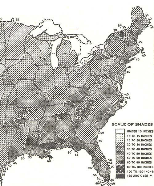 Fig 26 This Caption Also Applies To The Next Picture Western U S Annual Rainfall Map Of The United States This Map Represents Some Of The Most